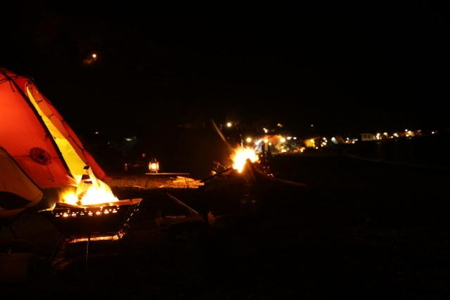 浩庵キャンプ場 キャンプ 焚き火