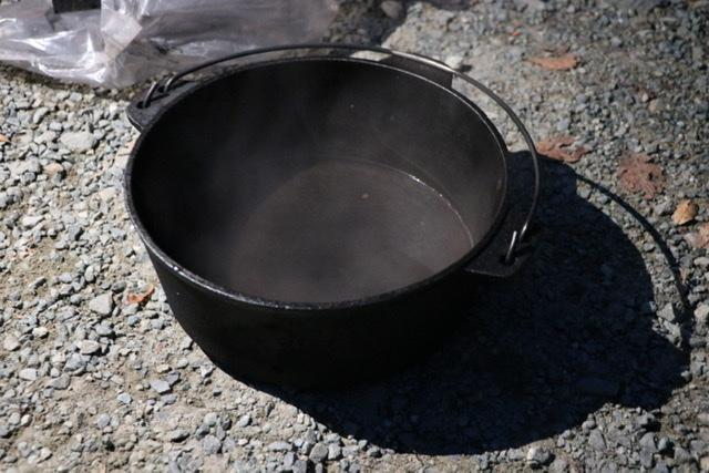 ダッチオーブン アルミホイルちまき
