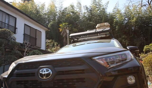 新型RAV4 adventure 「ルーフラックR09」と「車内」に載せるキャンプ道具